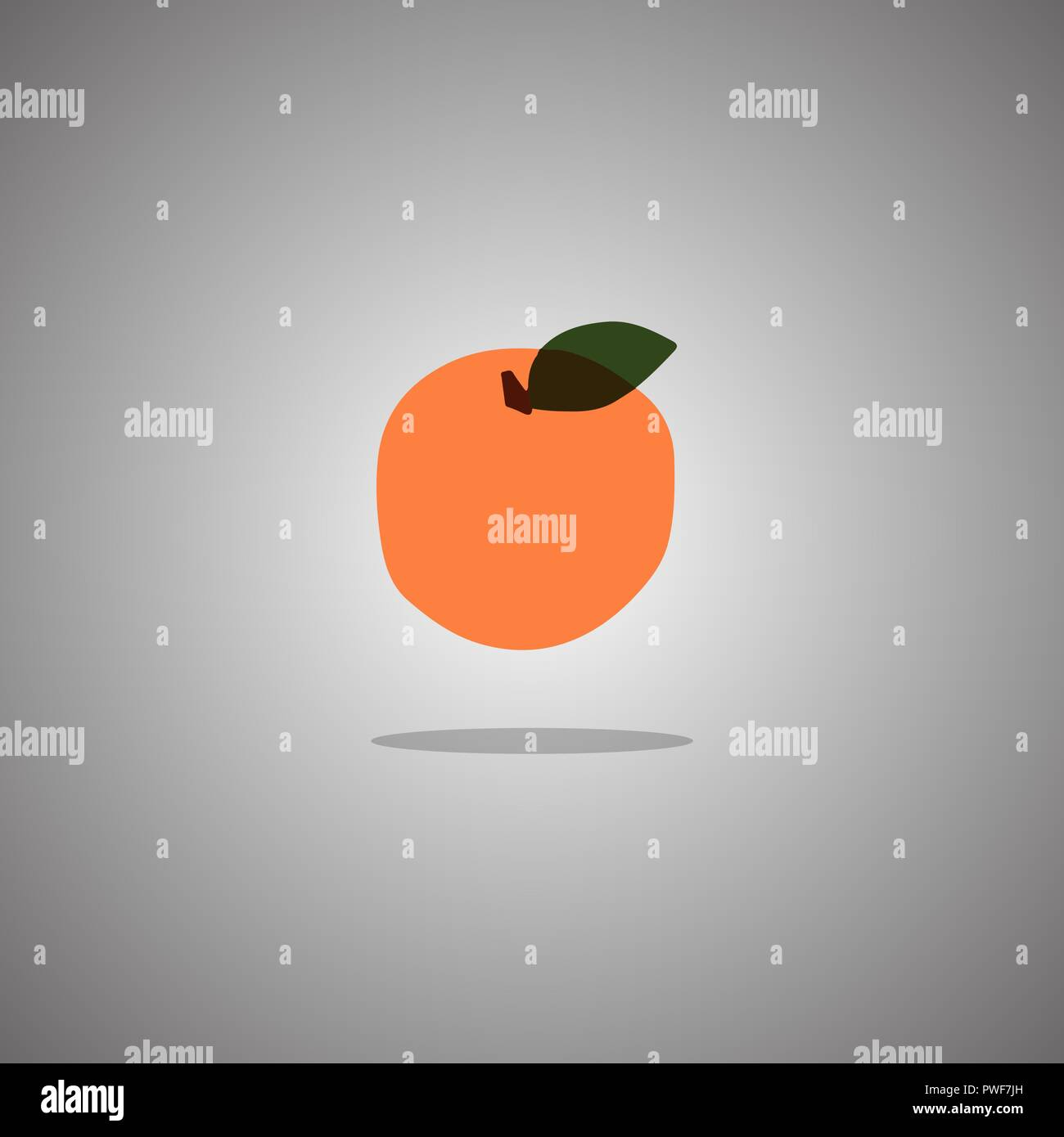 Orange on a gray background with a gradient. Vector illustration. - Stock Vector