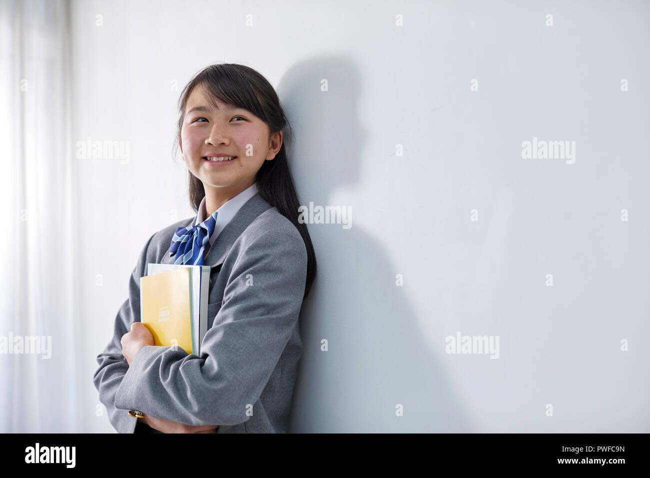 Japanese junior high student - Stock Image