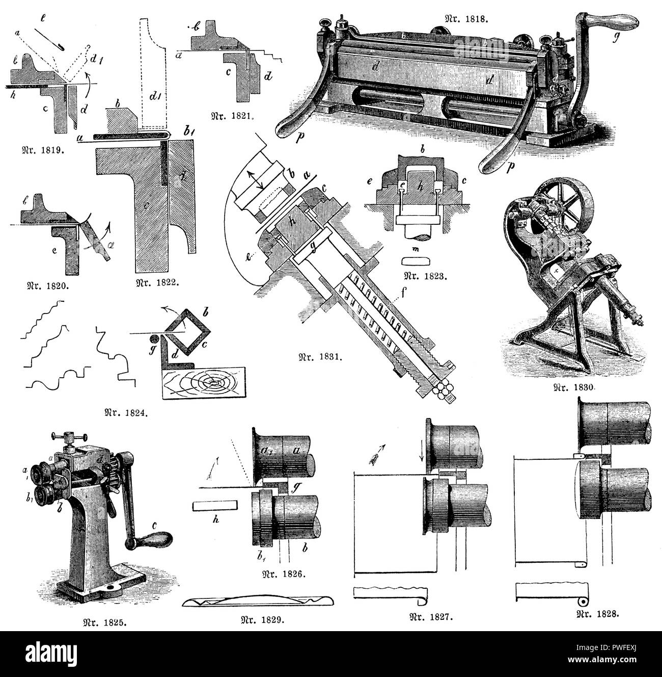 Lever Art Black And White Stock Photos Images Alamy Case Ih Wiring Schematic 1822 1819 Operation Of The Bending Machine
