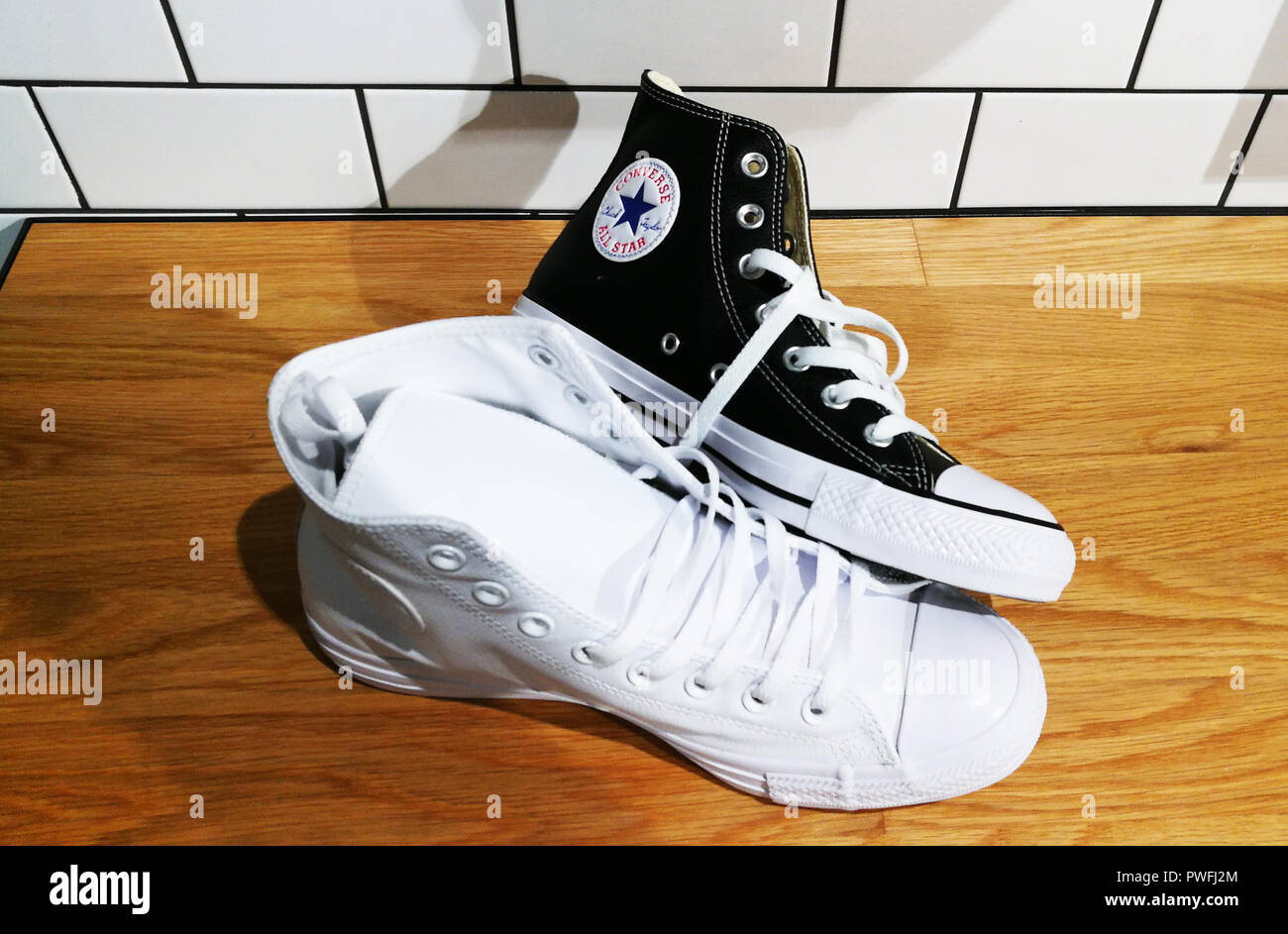 2d50353263f7 Black Converse Shoe Stock Photos   Black Converse Shoe Stock Images ...