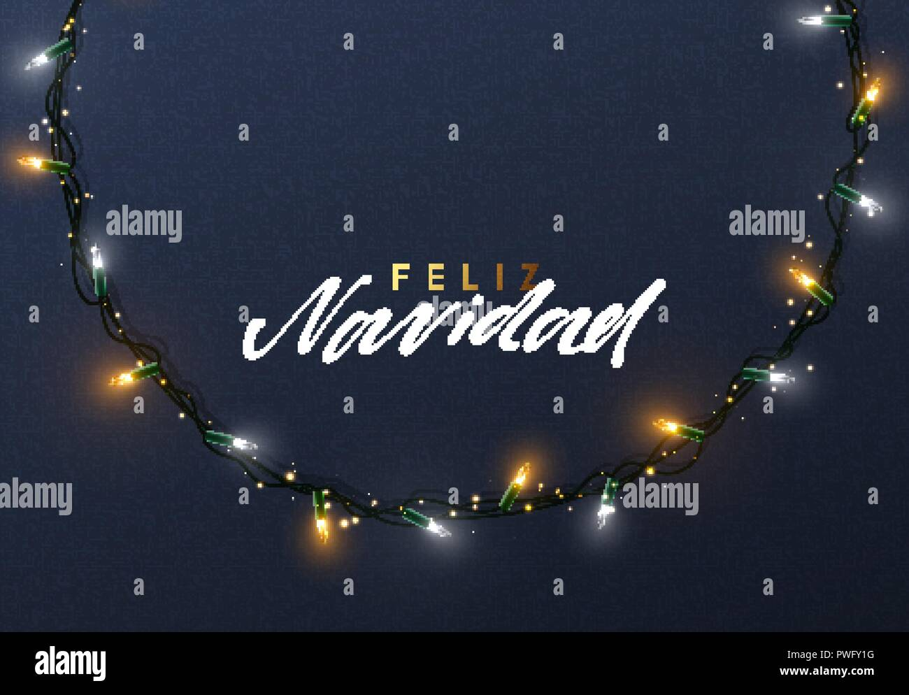 Spanish Christmas Cards Stock Vector Images - Alamy