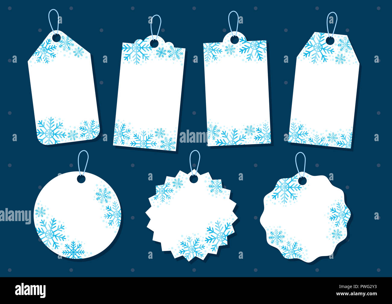 Snowflake christmas gift tag collection for sale promotion and gift ...
