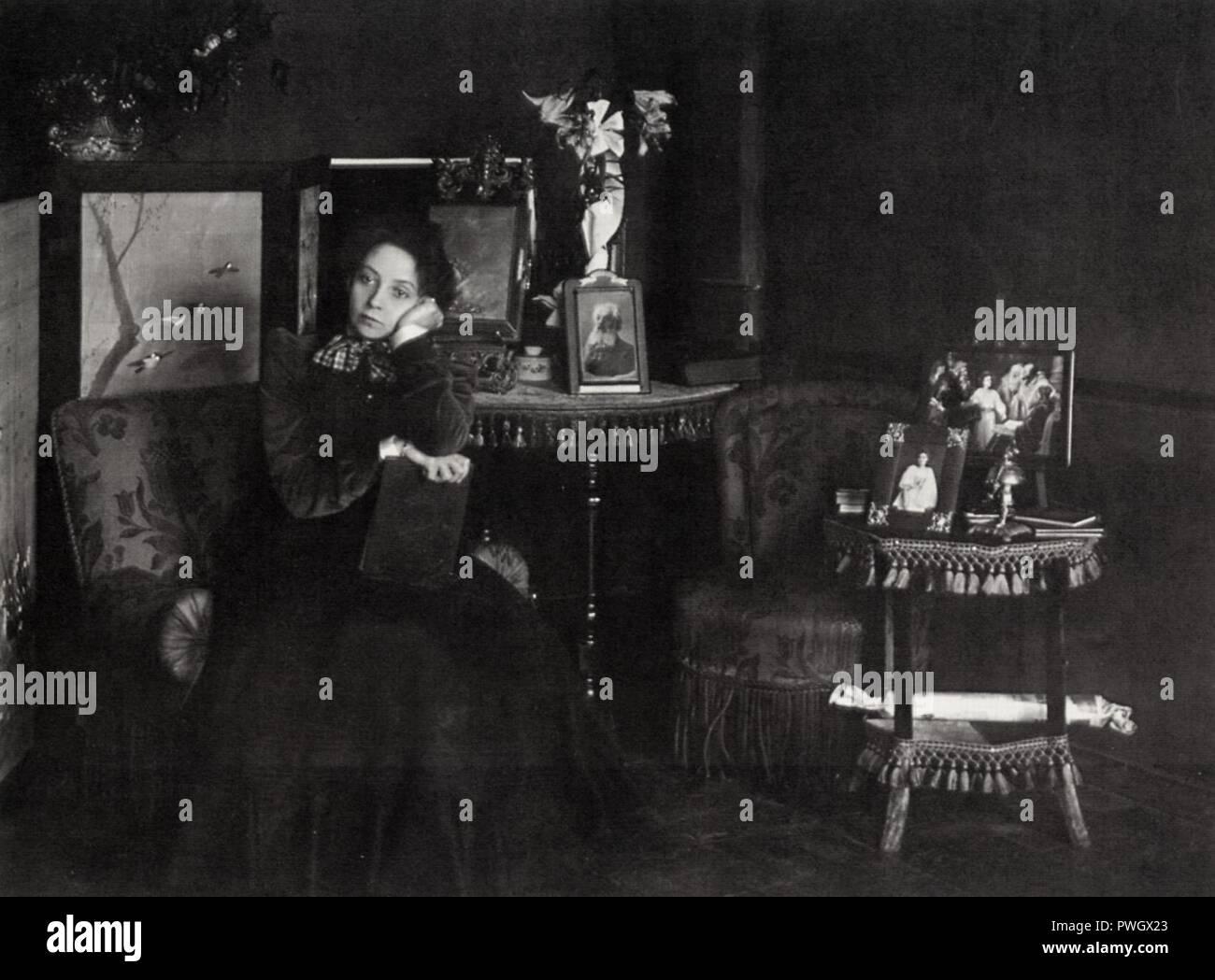 Bulla, Karl Karlovič - Die Schauspielerin Vera Federovna Komissarževskaja - Stock Image