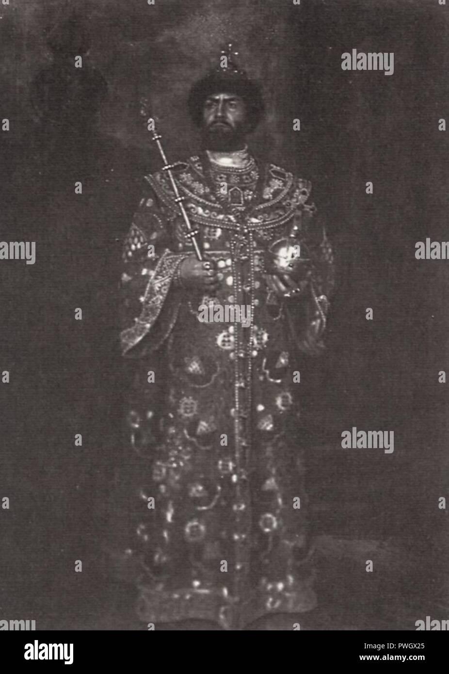 Bulla, Karl Karlovič - Šaljapin als Boris Godunov, St. Petersburg - Stock Image