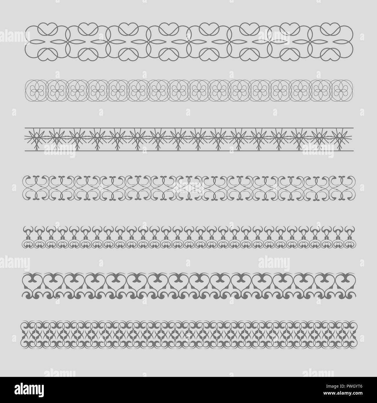 Decorative Borders. Patterned, frame for  invitations, postcards and other printed products. - Stock Image
