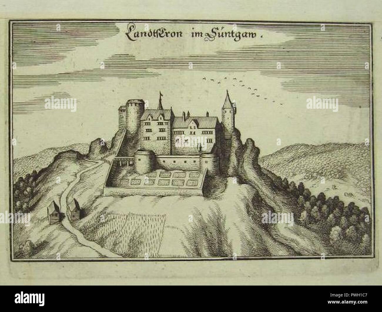 Burg Landskron im Elsass. Stock Photo