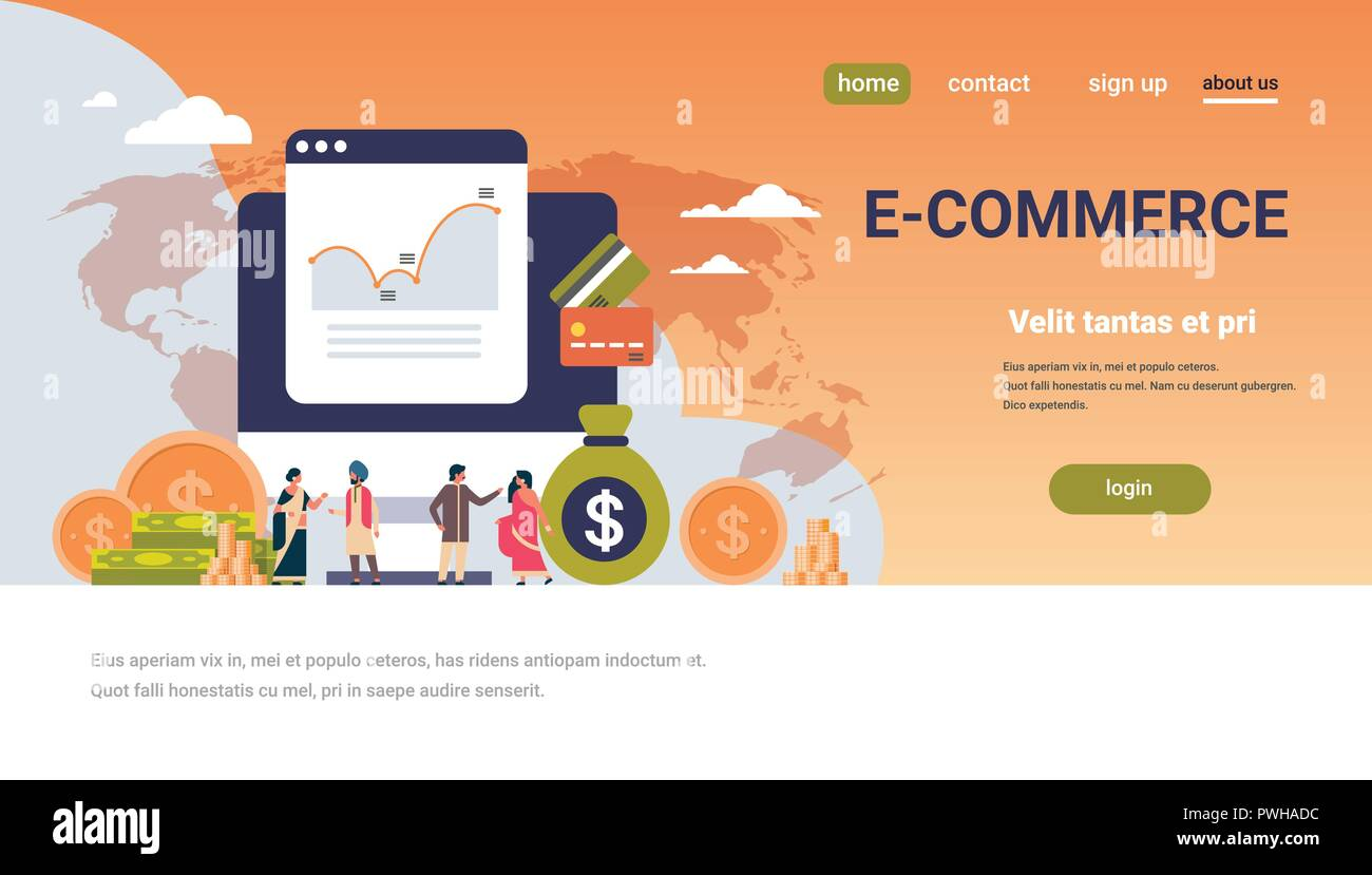 e-commerce financial money graph growth wealth concept