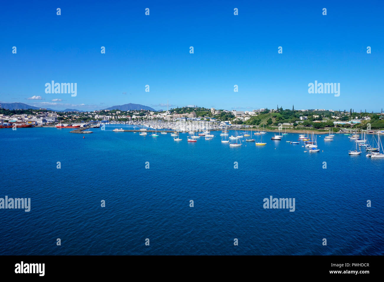 View of Moselle Bay in Noumea, New Caledonia - Stock Image