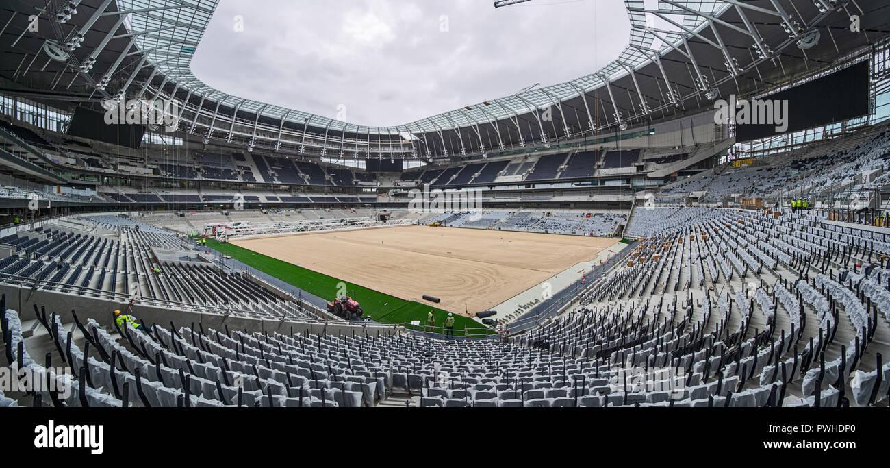 Spurs Football Stadium under construction. - Stock Image