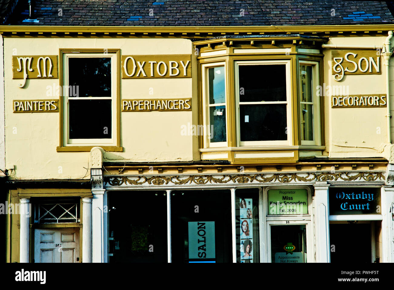 Ex Painter And Decoraters Shop Fishergate York England Stock