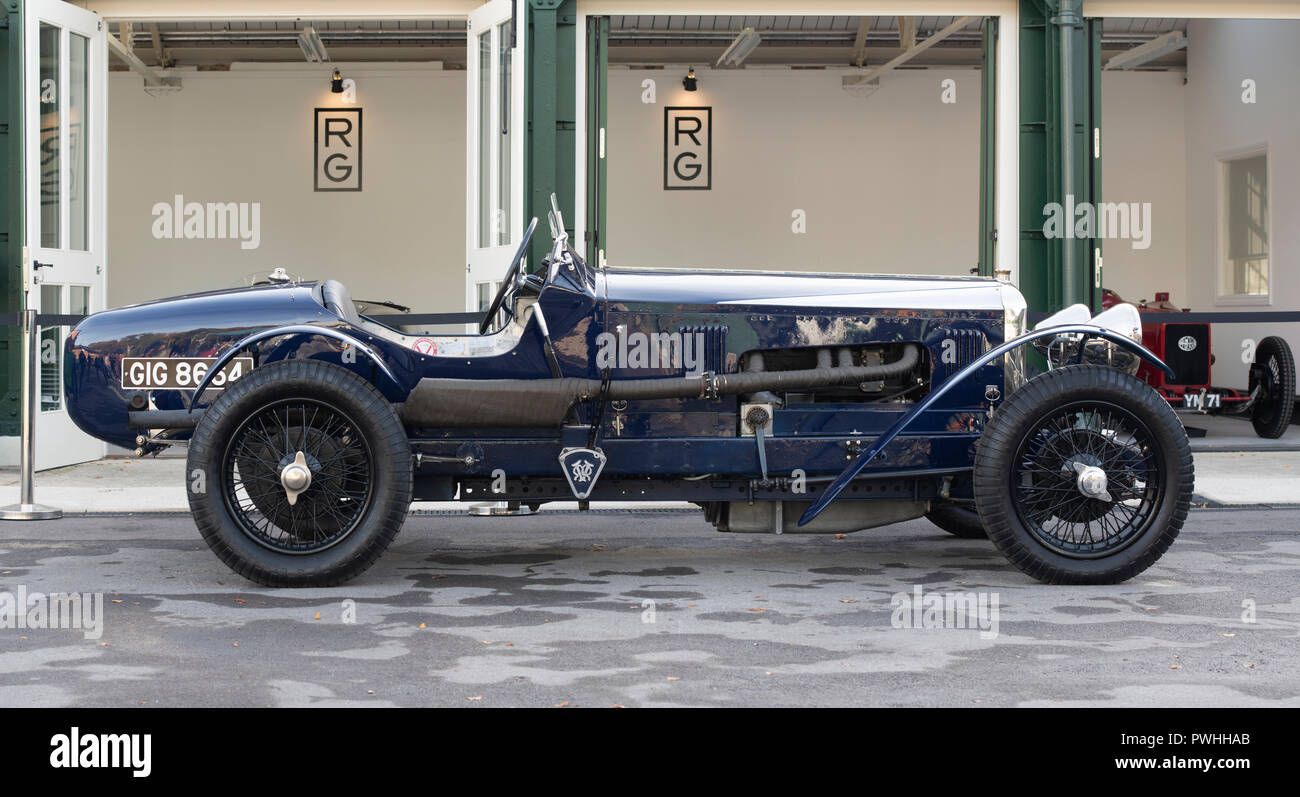 1926 Vintage Vauxhall racing car at Bicester heritage centre autumn sunday scramble event. Bicester, Oxfordshire, UK - Stock Image