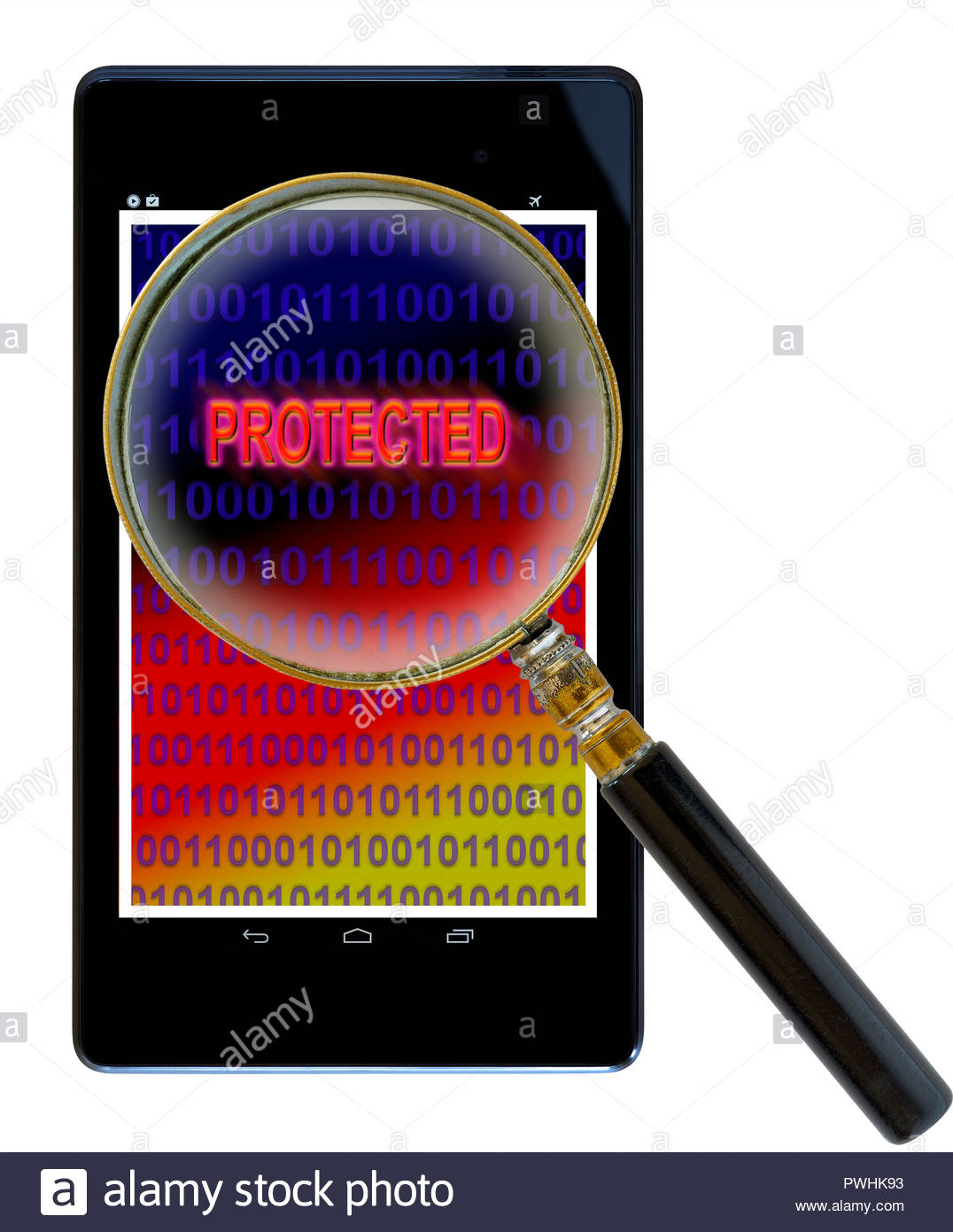 Protected shown on a tablet computer, Dorset, England, UK Stock Photo