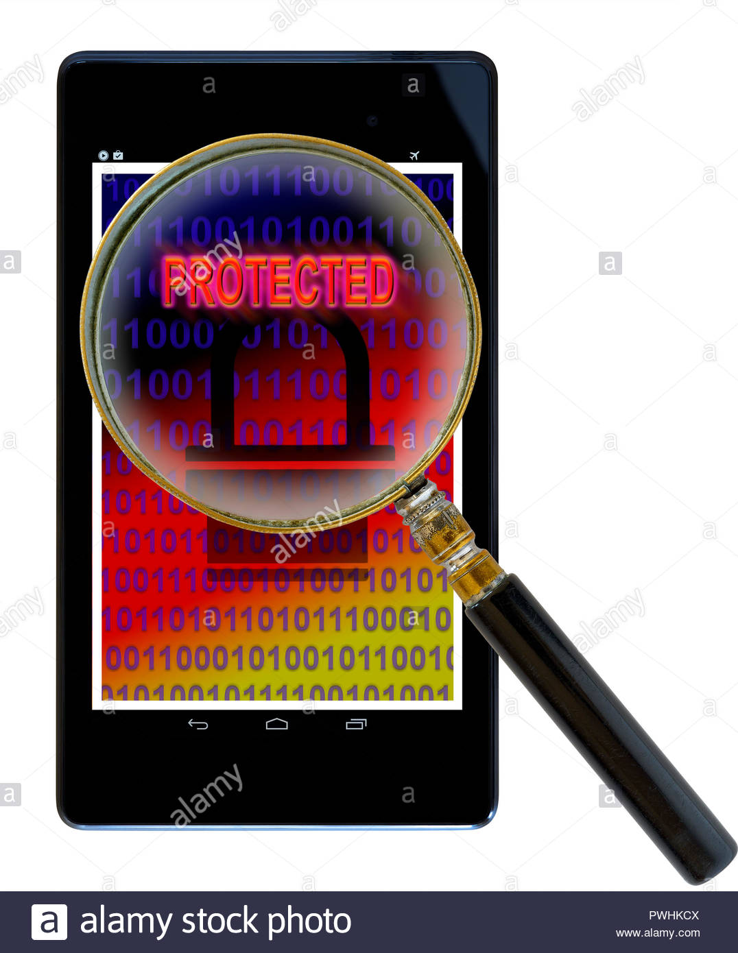Protected shown on a tablet computer, Dorset, England, UK - Stock Image
