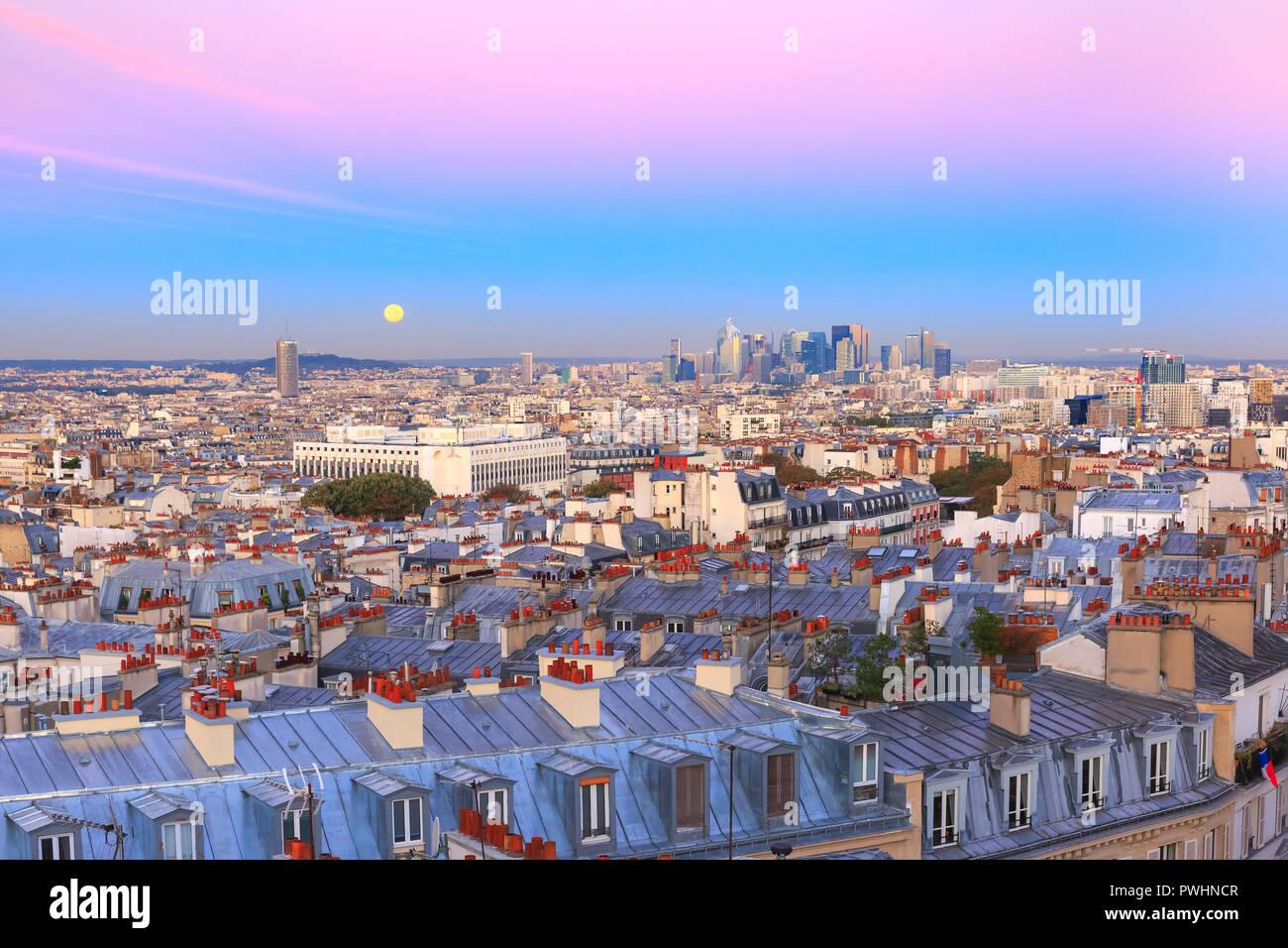 Sunrise in Paris, France Stock Photo