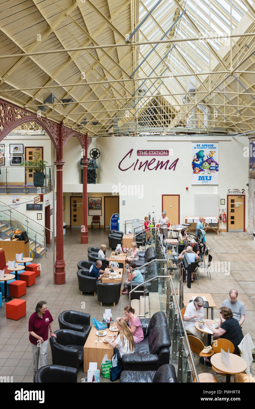 The Station art gallery cafe and entertainment venue in Richmond North Yorkshire - Stock Image