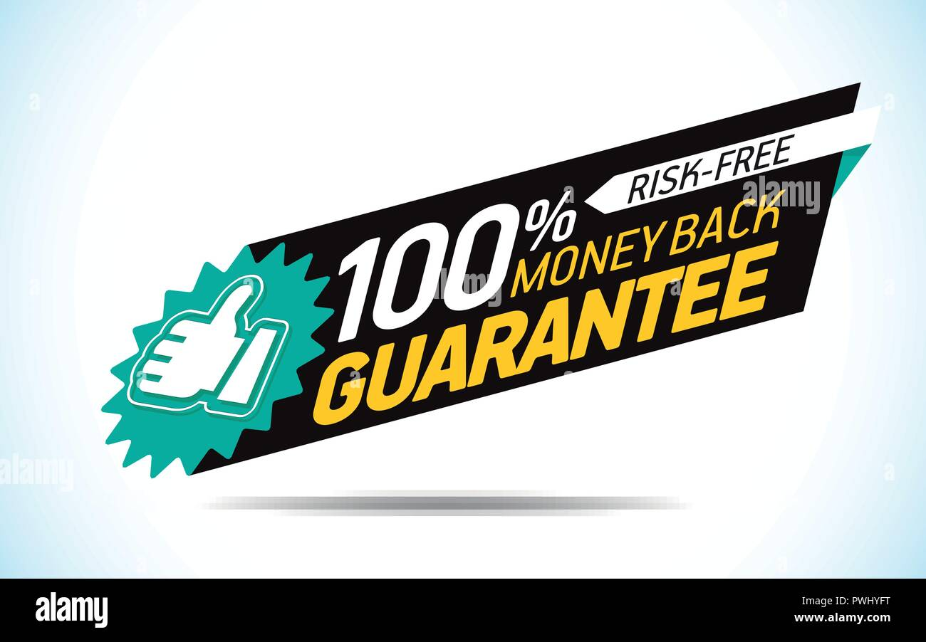 Guarantee and satisfaction label - Stock Vector