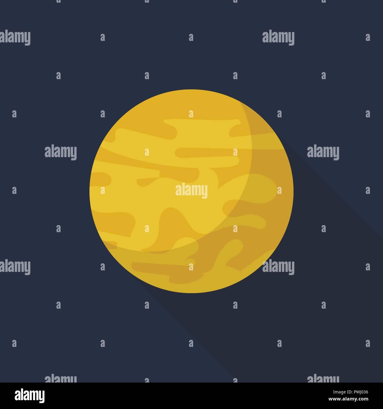 Venus planet icon, flat style - Stock Image