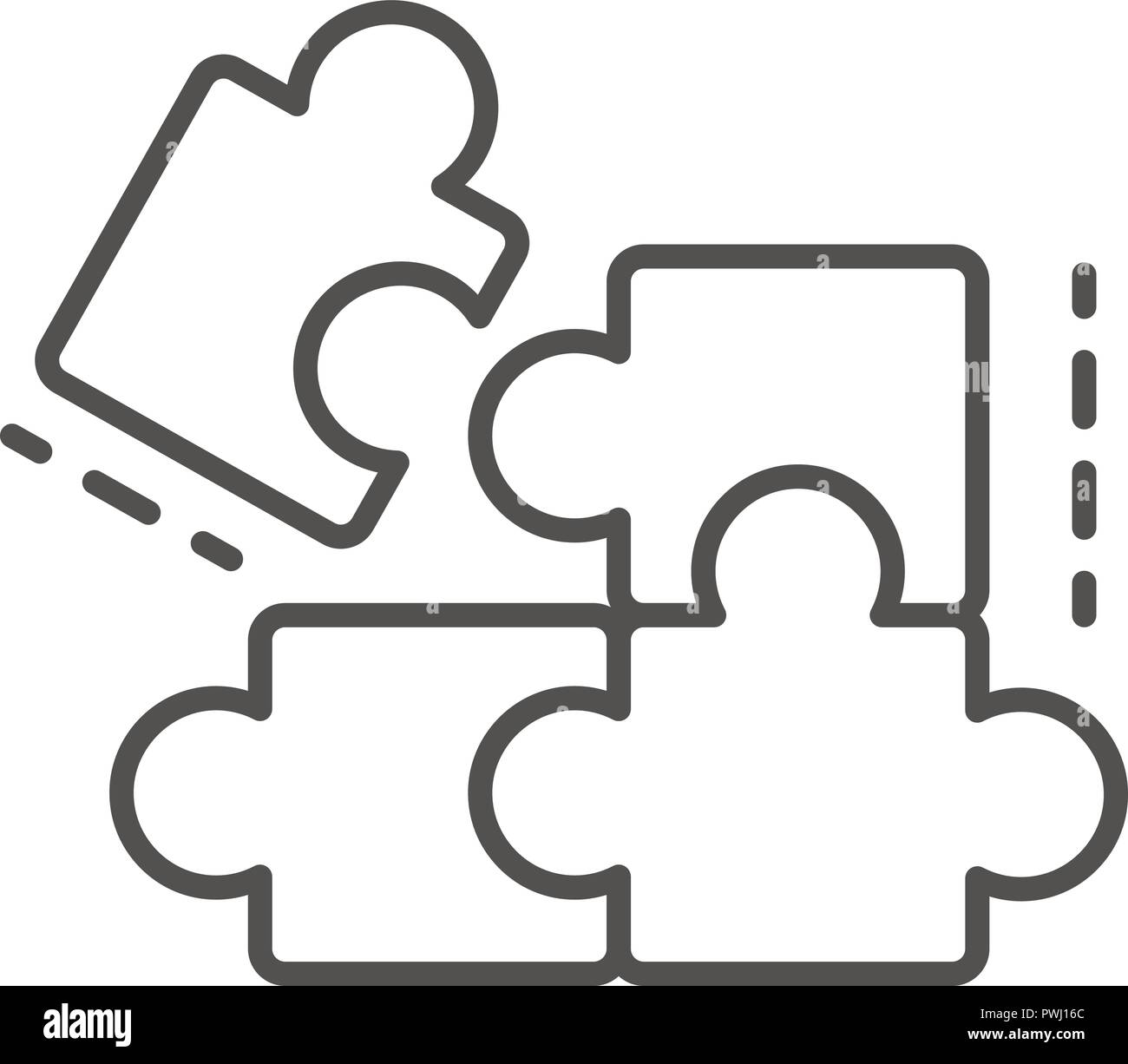 complete puzzle solution icon outline style stock vector art