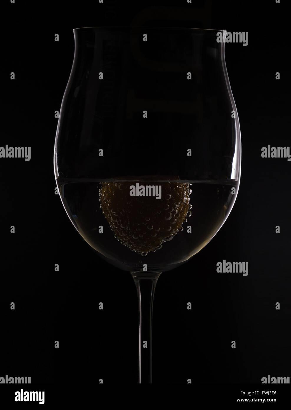 Weinglas Silhouette - Stock Image