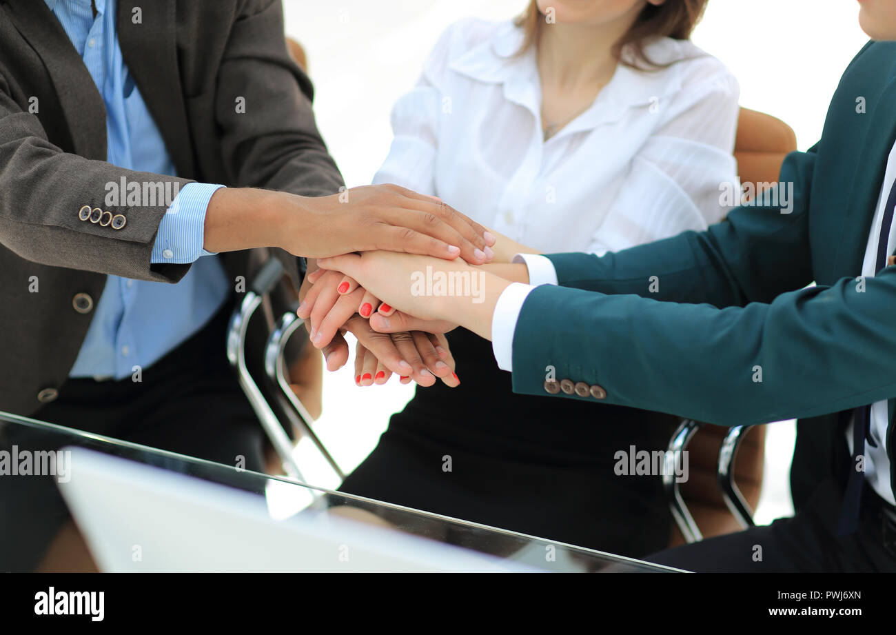 Join Hands Support Together and unify Concept - Stock Image