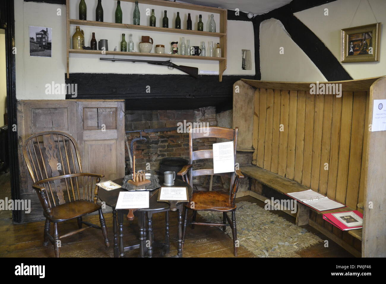Dining Room Bar Inside The Tudor House Worcester England UK