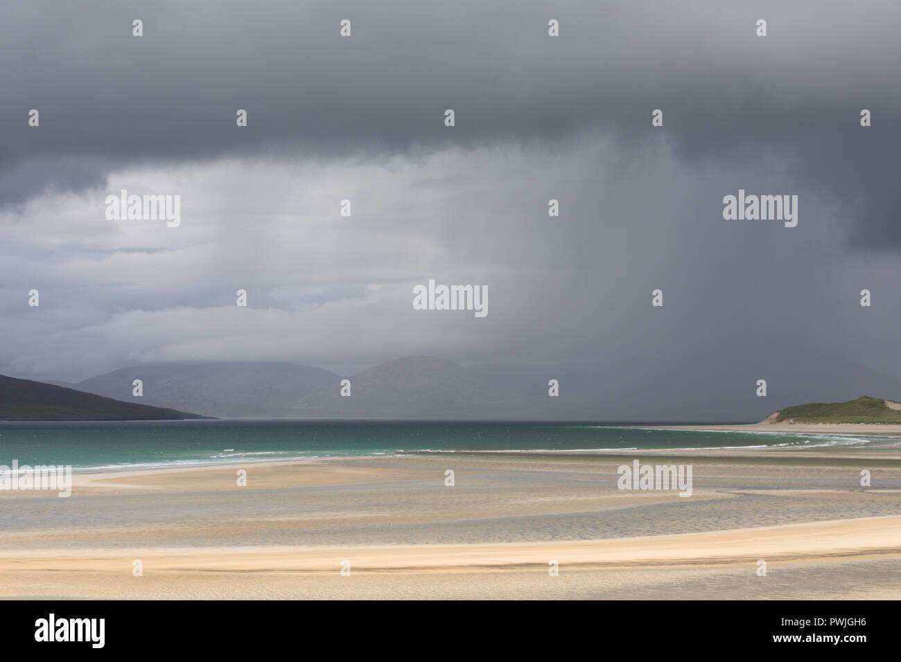 Seilebost Beach looking across to Luskentyre peninsula, Harris, Scotland Stock Photo