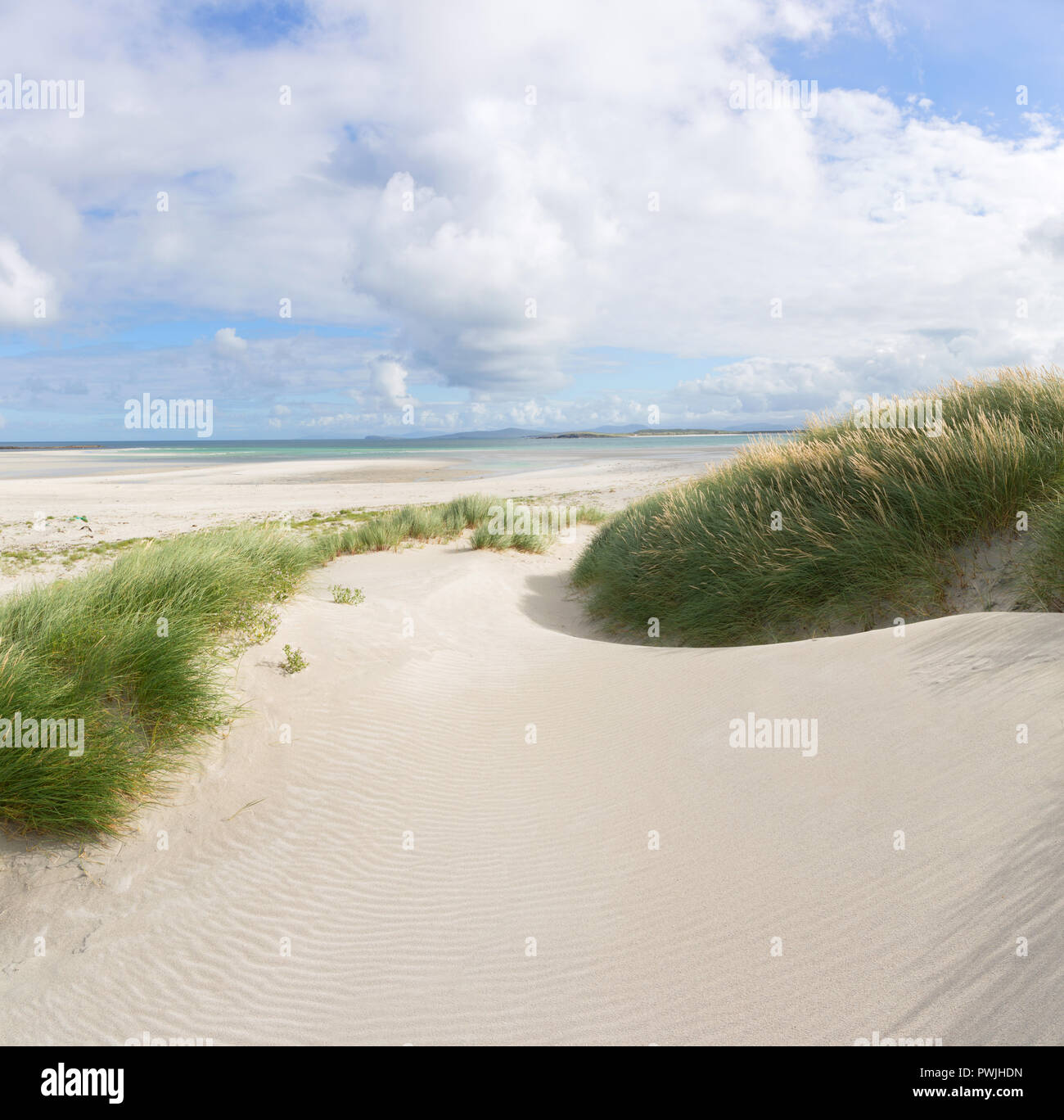 Traigh Iar dunes, North Uist, Outer Hebrides Stock Photo