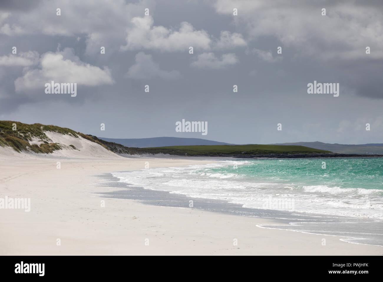 Traigh Hornais beach, North Uist, Outer Hebrides, Scotland, UK - Stock Image