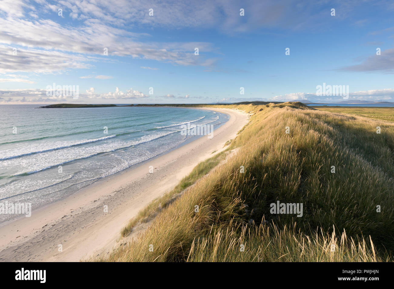 Traigh Iar beach, North Uist, Outer Hebrides, Scotland, UK - Stock Image