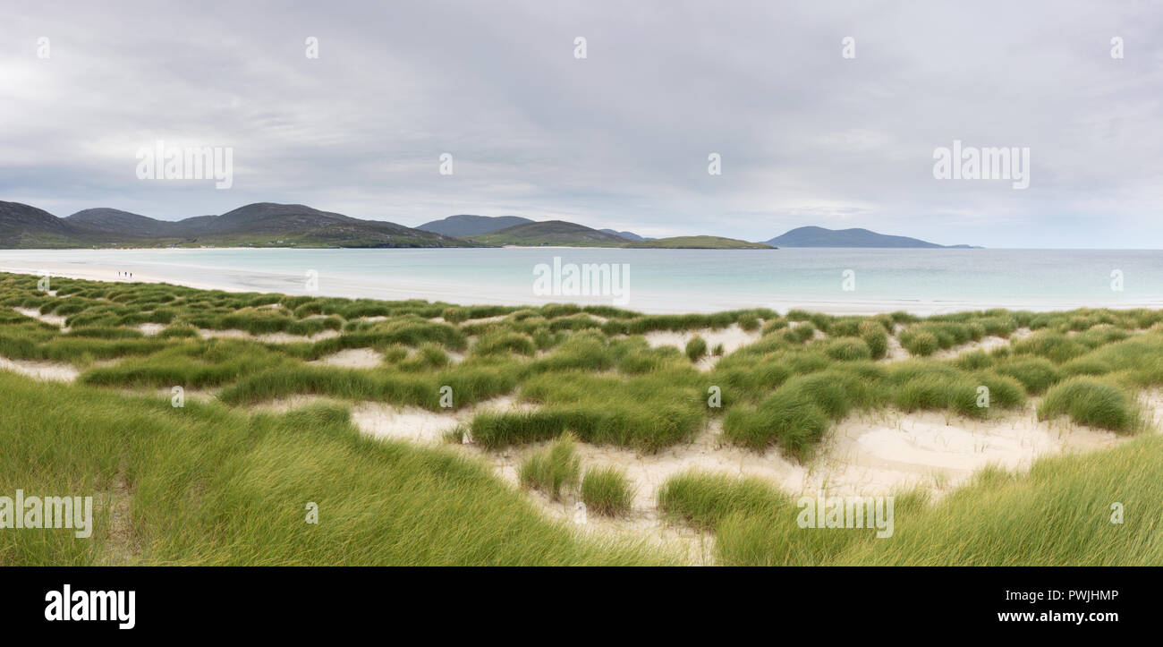 Luskentyre dunes and beach, South Harris, Outer Hebrides, Scotland. - Stock Image