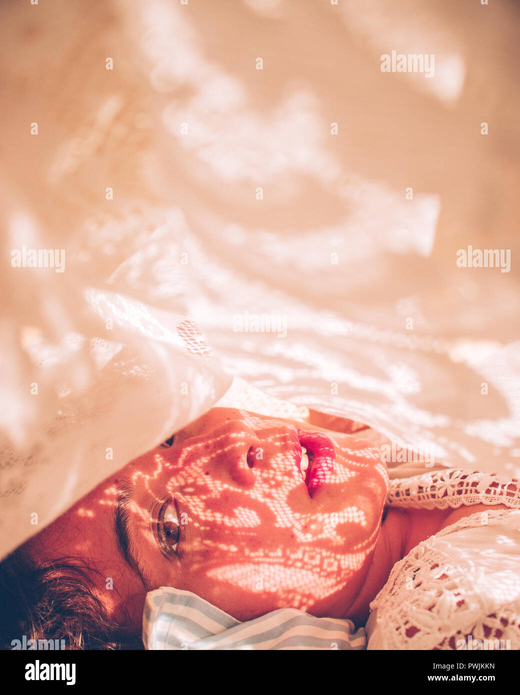 Under the Sheets - Stock Image