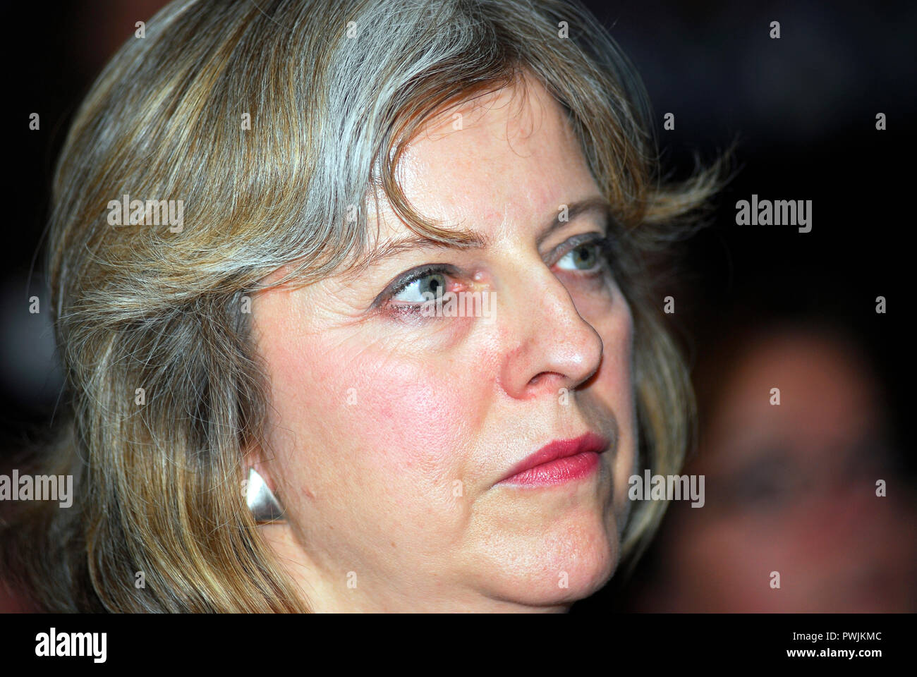 Theresa May MP (born 1 October 1956), British Prime Minister since 2016 & MP for Maidenhead, Berkshire. Photographed when she was Shadow Leader... - Stock Image