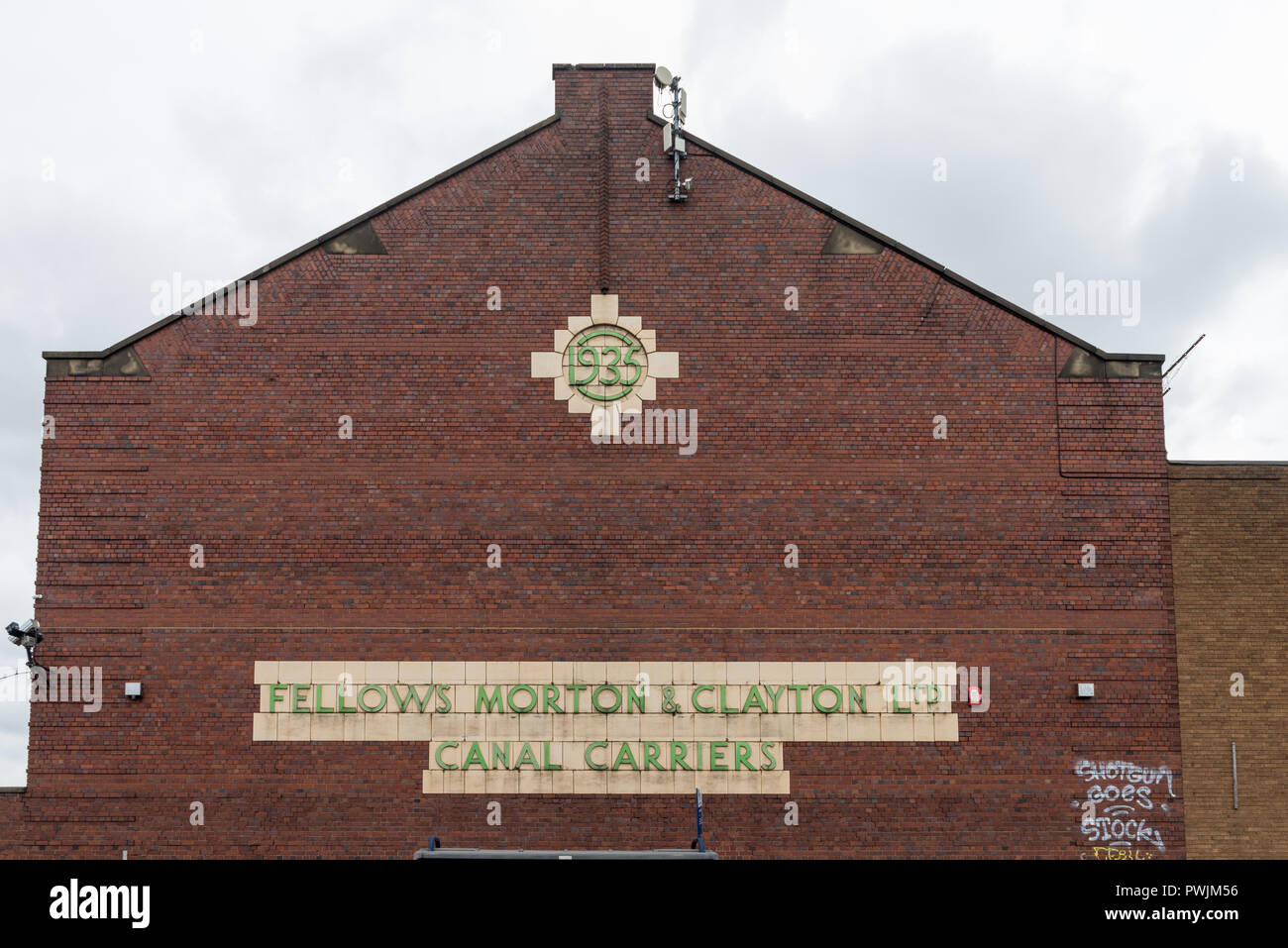 Former warehouse of Fellows, Morton & Clayton Canal Carriers in Digbeth, Birmingham - Stock Image