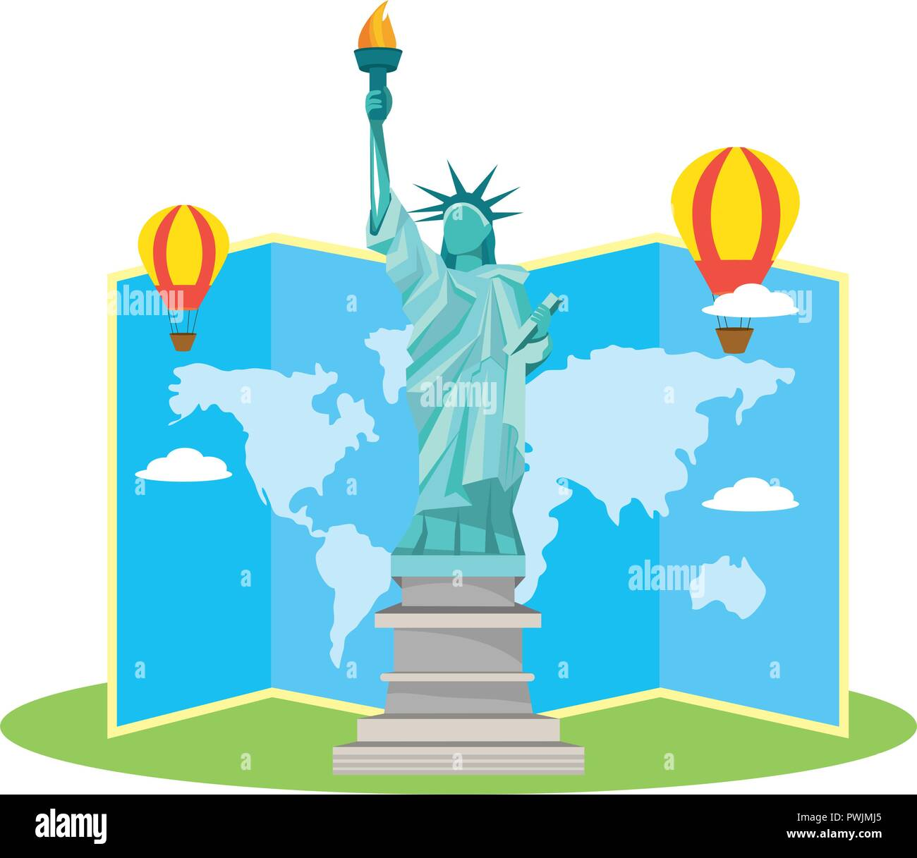 world travel and tourism - Stock Vector
