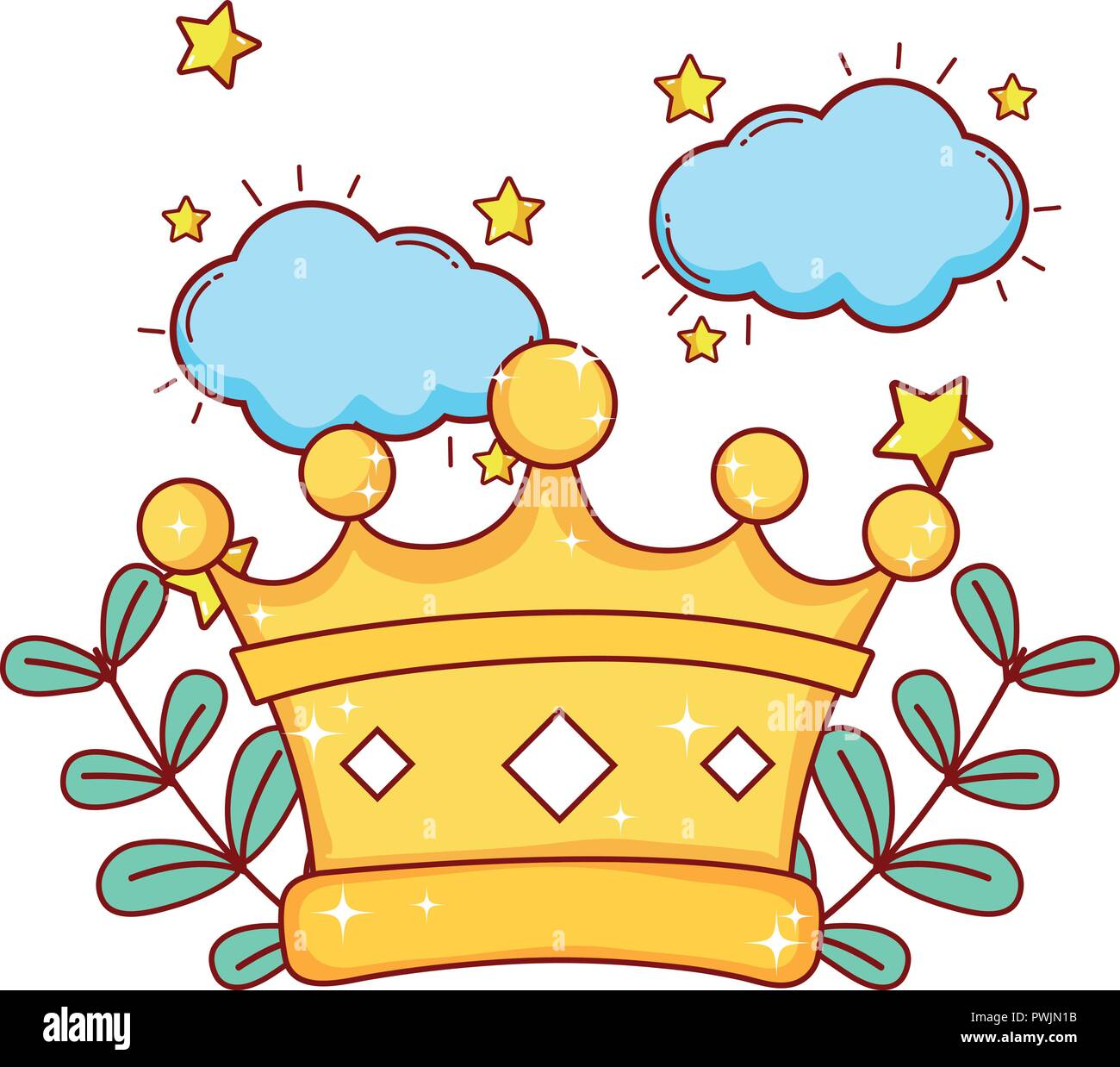 King Crown Cartoon Stock Vector Image Art Alamy Over 31,136 crown cartoon pictures to choose from, with no signup needed. alamy