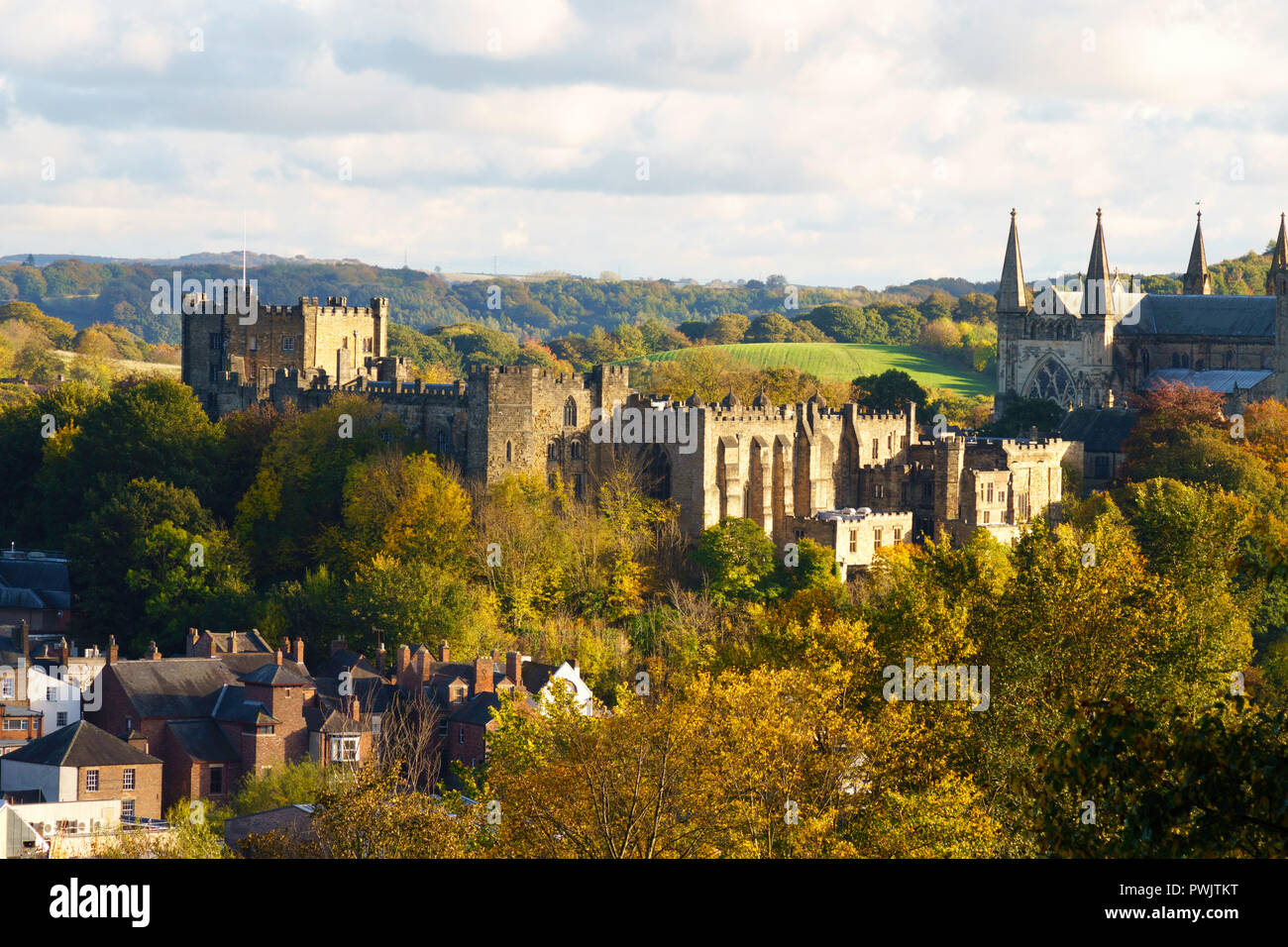 Durham Castle From The North West Home Of University College In