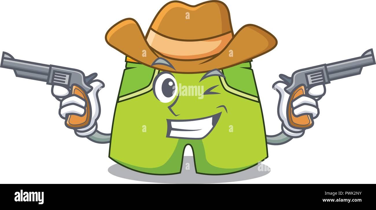 Happy Cartoon Cowboy Hat Running Stock Photos   Happy Cartoon Cowboy ... f1e56be10eb