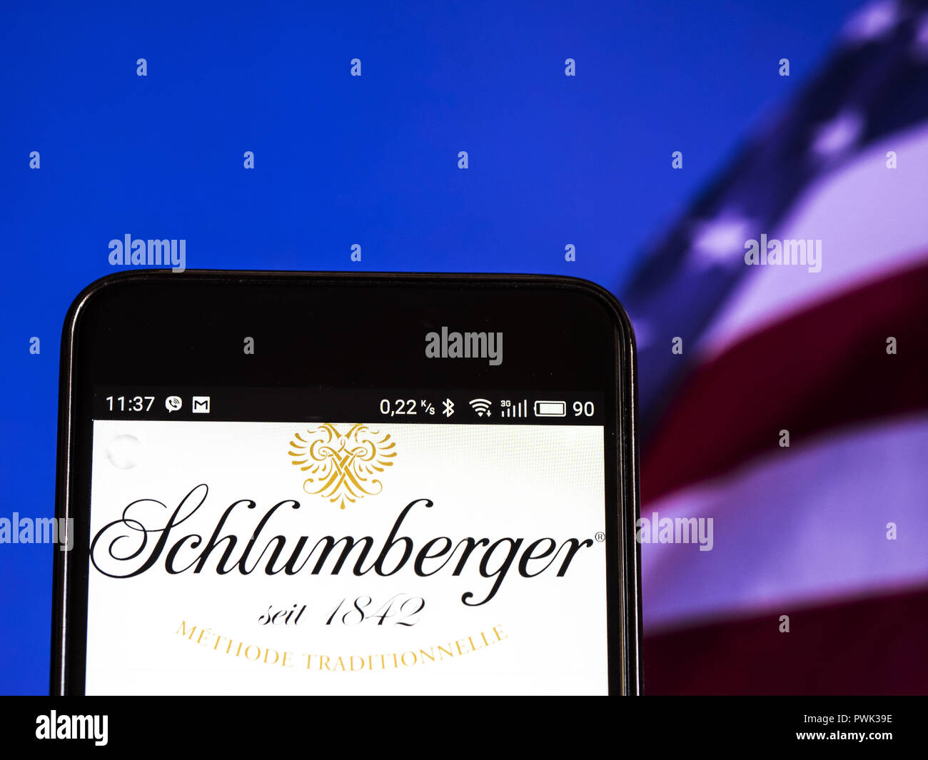 Kiev, Ukraine  16th Sep, 2018  Schlumberger Limited logo