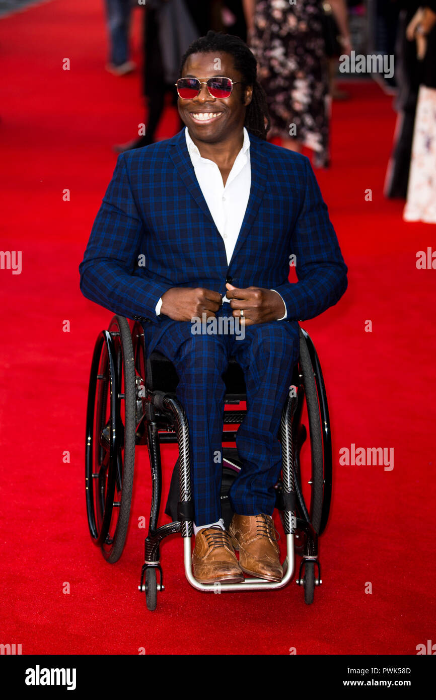 London, UK. 16th October, 2018. Ade Adepitan at They Shall Not Grow Old Premiere at the BFI London Film Festival on 16th October 2018 at BFI Southbank - London Credit: Tom Rose/Alamy Live News - Stock Image