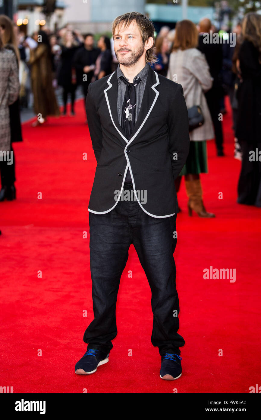 London, UK. 16th October, 2018. Dominic Monaghan at They Shall Not Grow Old Premiere at the BFI London Film Festival on 16th October 2018 at BFI Southbank - London Credit: Tom Rose/Alamy Live News - Stock Image