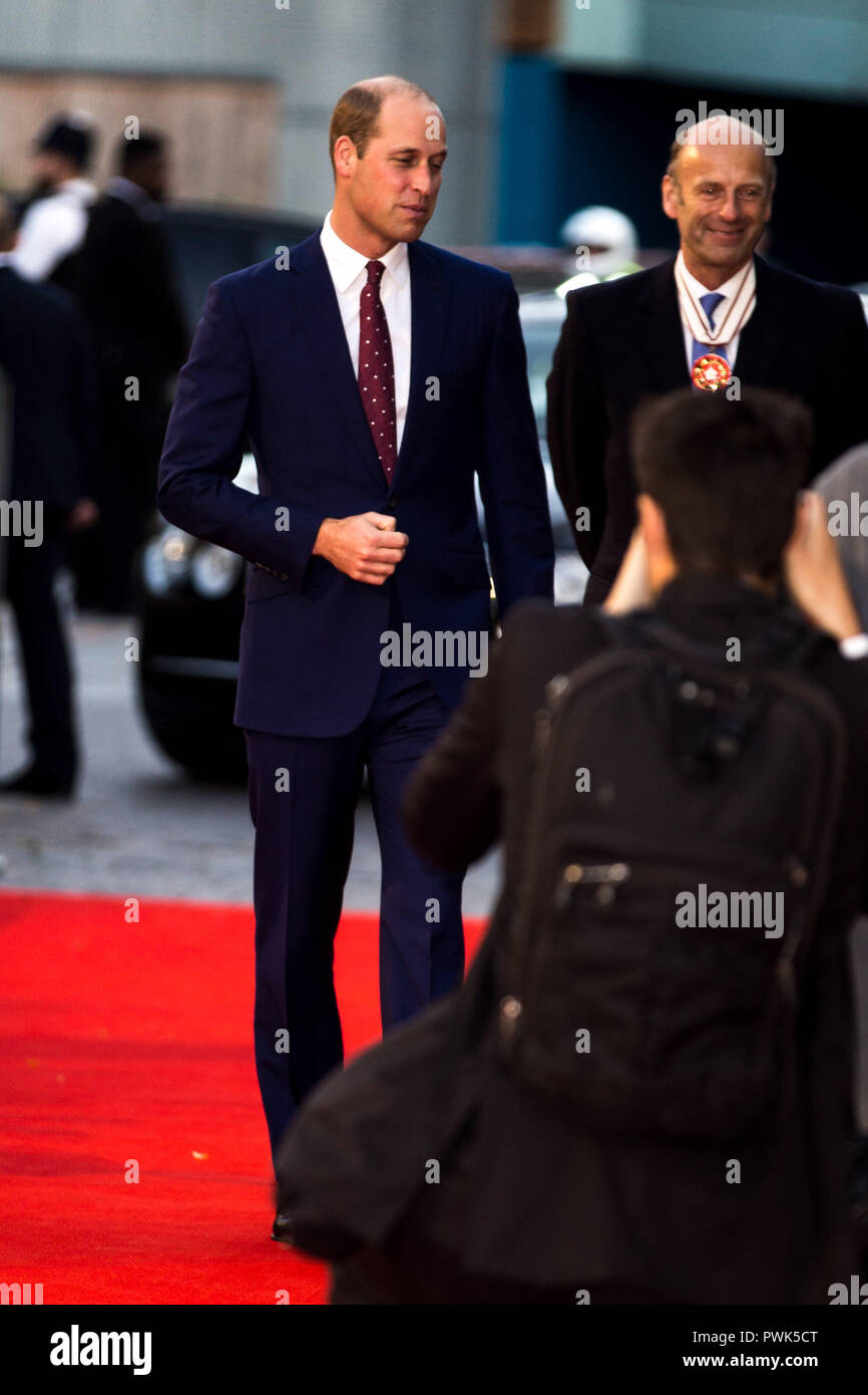 London, UK. 16th October, 2018. Duke of Cambridge at They Shall Not Grow Old Premiere at the BFI London Film Festival on 16th October 2018 at BFI Southbank - London Credit: Tom Rose/Alamy Live News - Stock Image