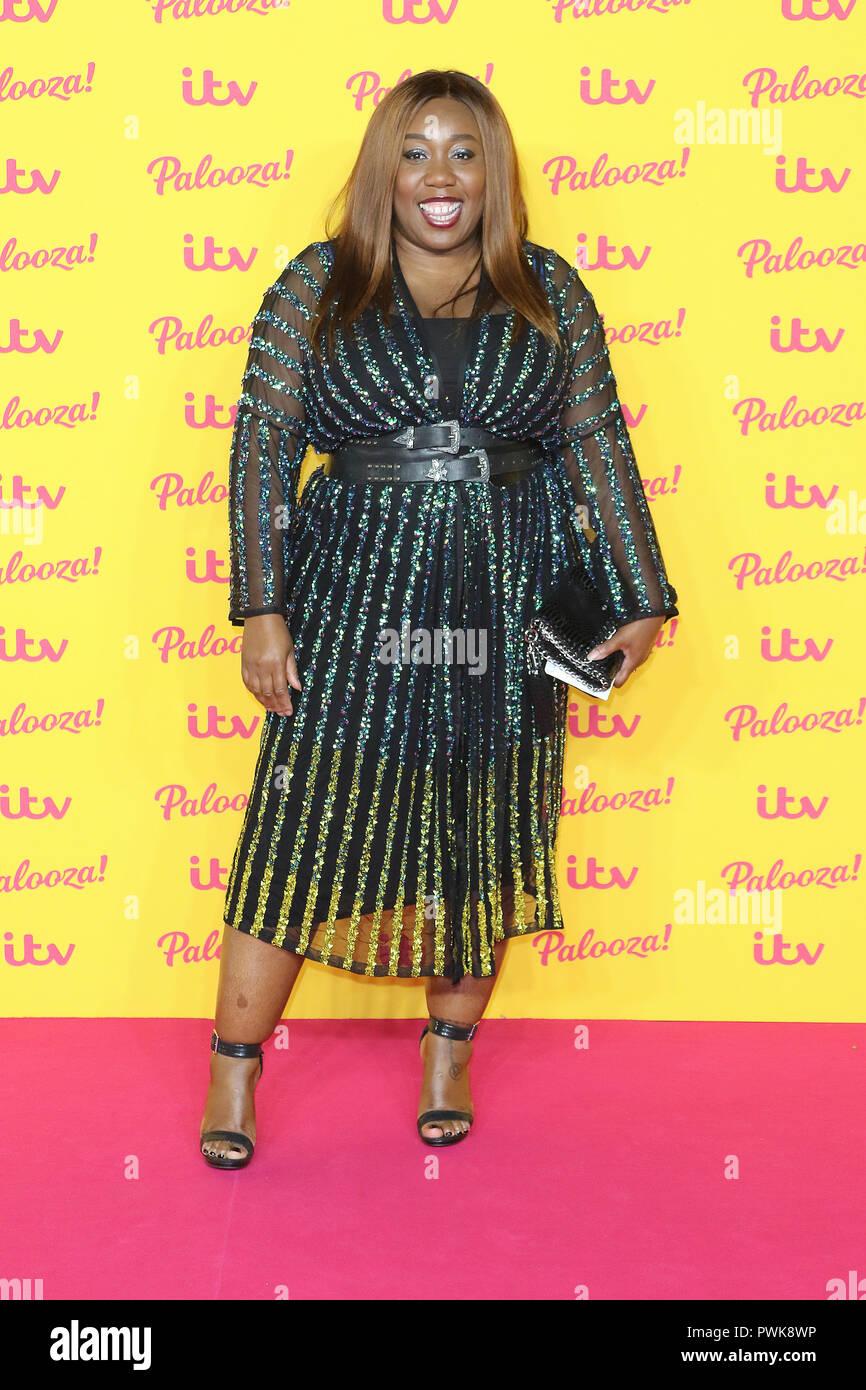 London, UK. 16th Oct 2018. Chizzy Akudolu, ITV Palooza, Royal Festival Hall, Southbank Centre, London, UK, 16 October 2018, Photo by Richard Goldschmidt Credit: Rich Gold/Alamy Live News Stock Photo