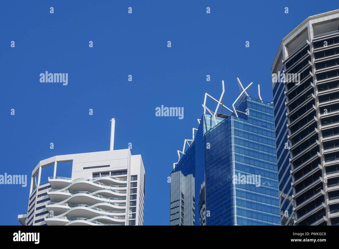 Modern buildings in Brisbane city - Stock Image