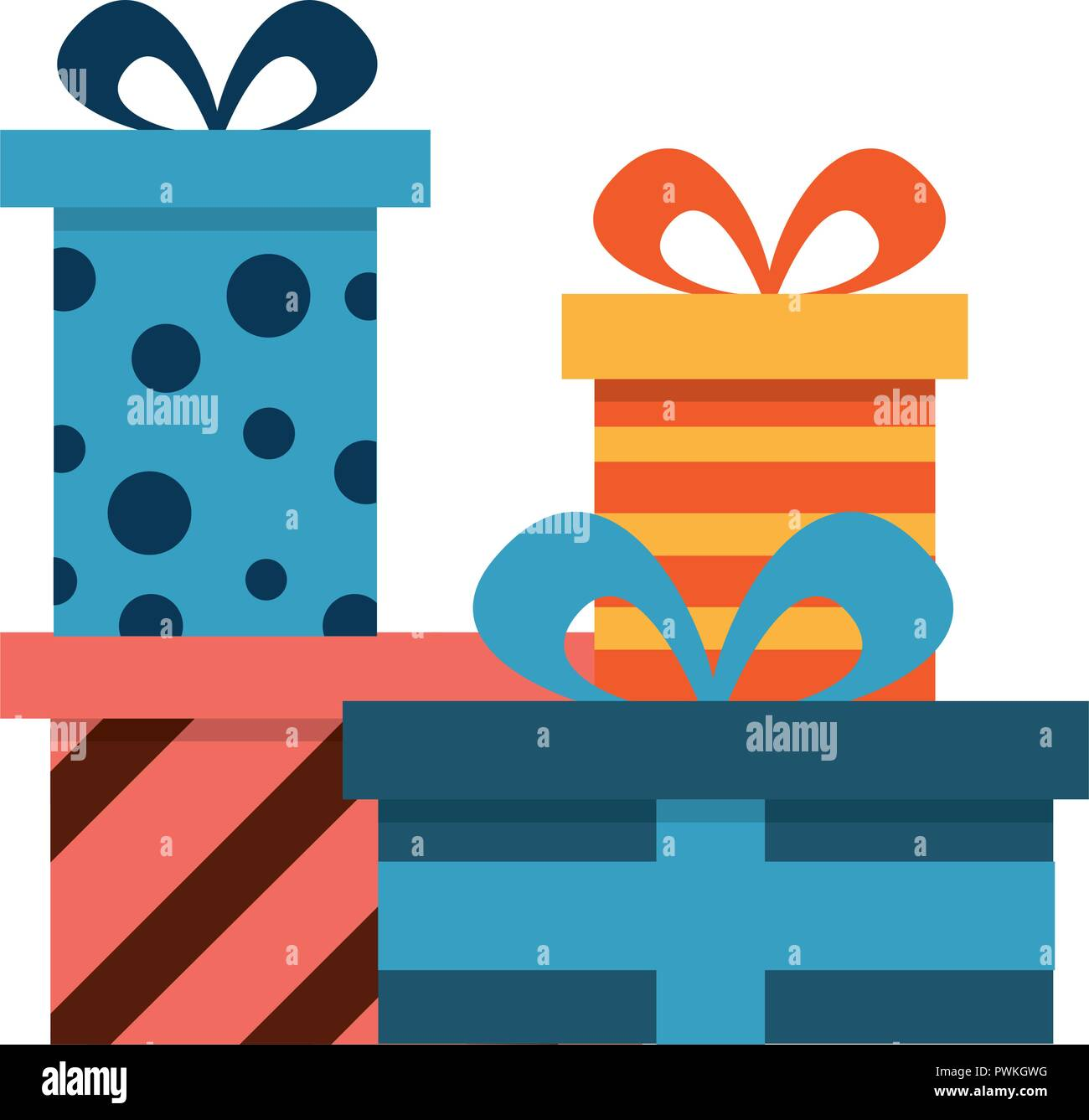 Birthday Gift Boxes Surprises Celebration Vector Illustration