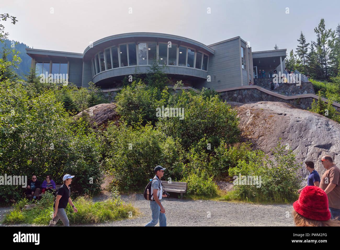Mendenhall Glacier Visitor  Center, Mendenhall Valley, Alaska, USA - Stock Image