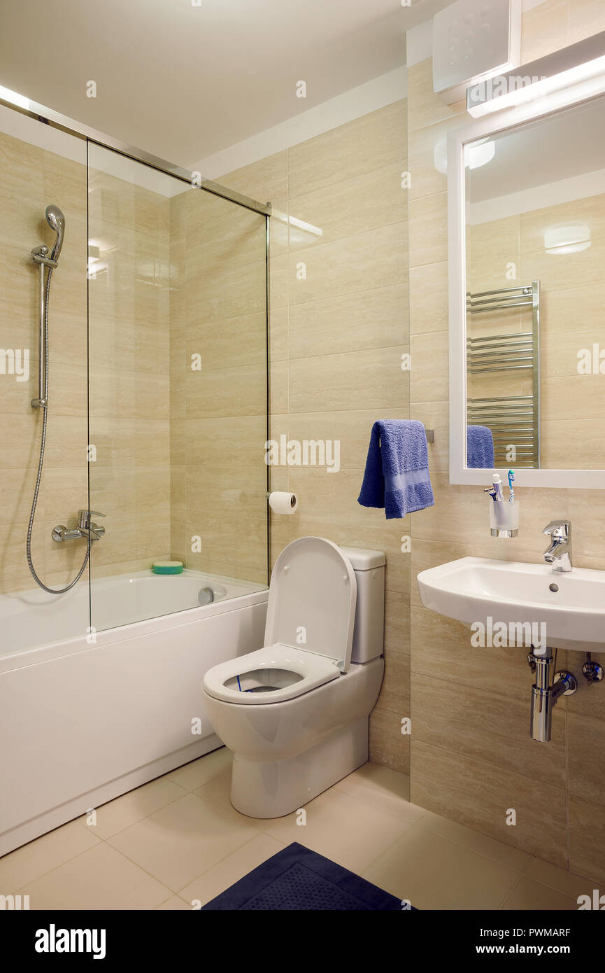 Interior Of A Small And Modern Apartment Bathroom Lifestyle Details Stock Photo Alamy