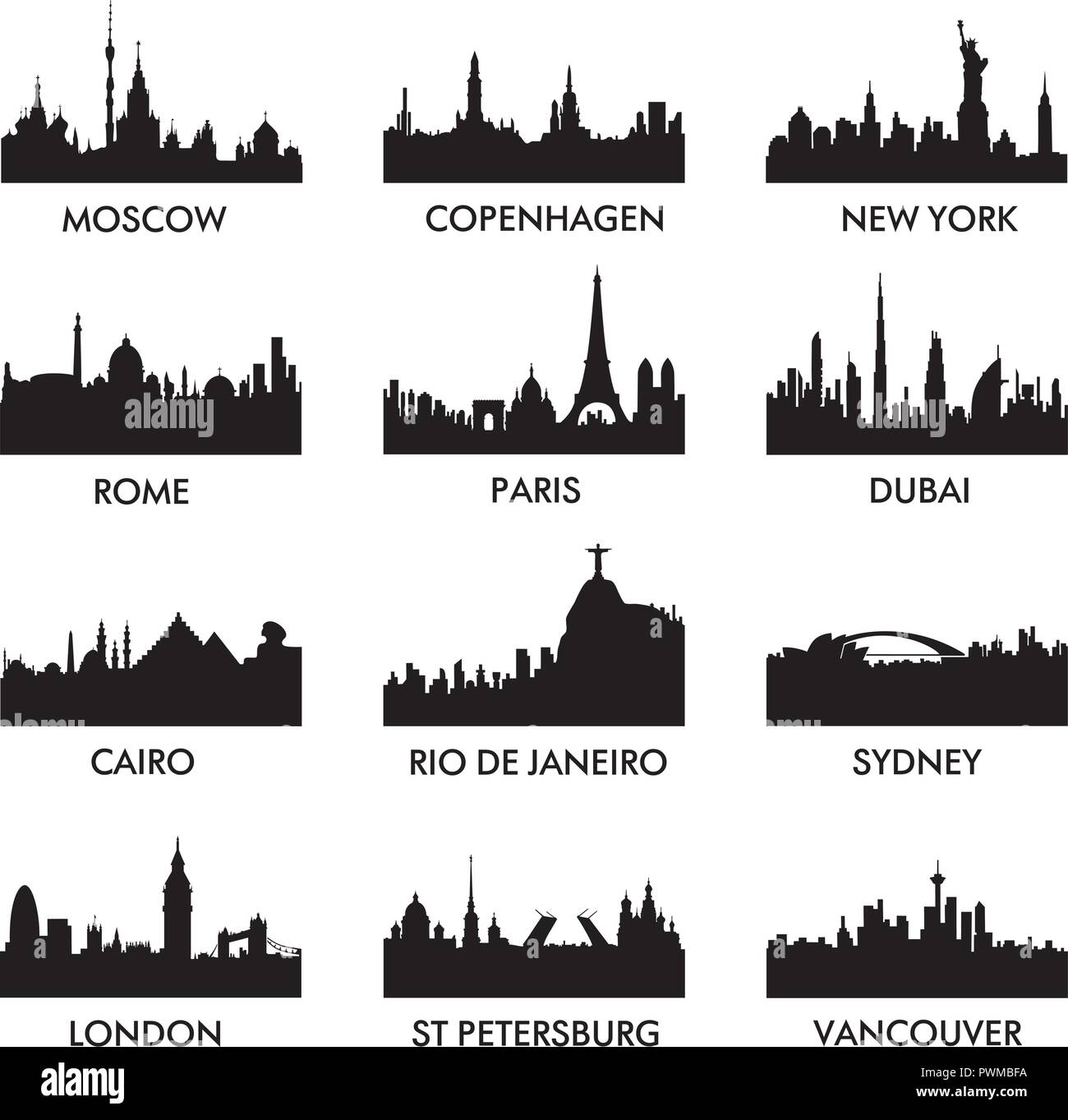 City Silhouette Vector Illustration Stock Vector Image Art Alamy 482 best city silhouette free brush downloads from the brusheezy community. https www alamy com city silhouette vector illustration image222338910 html