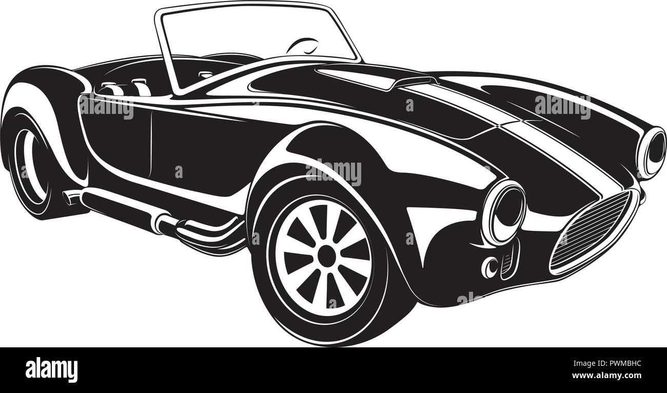 retro car vector detailed illustration - Stock Vector