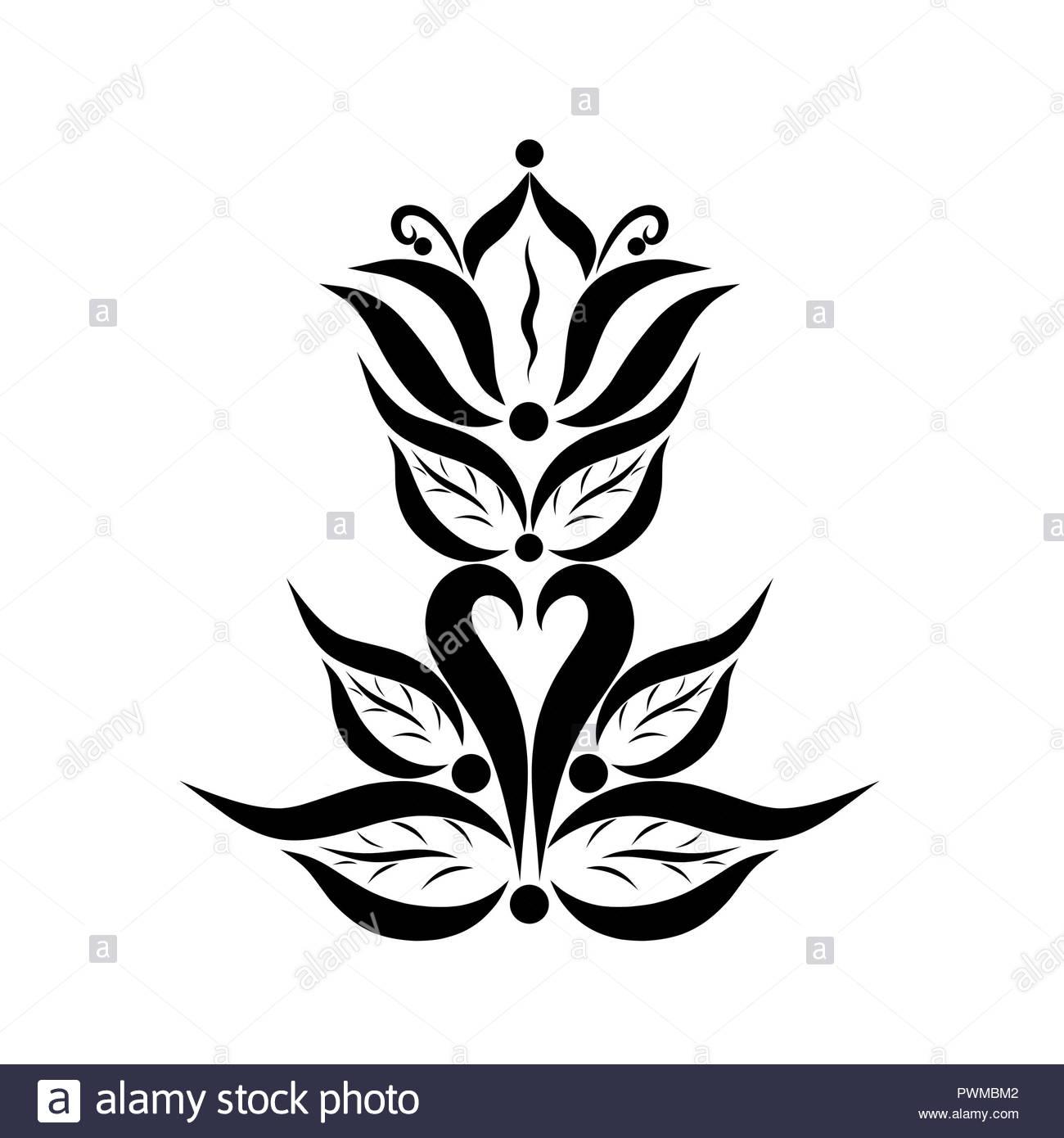 Illustration Symbol Flower Lily Design Logo Stock Photos