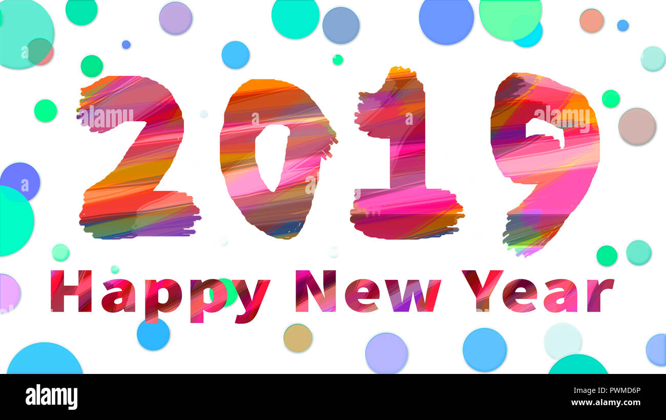 Happy new year - 2019 - Stock Image